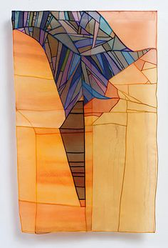 Leonie Castelino: In Flight, pojagi, silk organza, dye, pieced, Marubekki seams