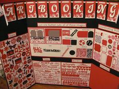 i love 2 stamp and scrapbook by Laurie in Louisiana: Artbooking display board
