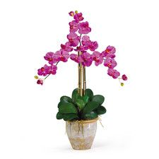 Triple Phalaenopsis | Silk Orchid Flowers | Nearly Natural
