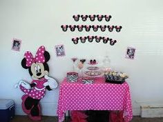 Image result for homemade minnie mouse 1st birthday party ideas