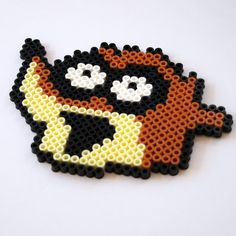 Hey, I found this really awesome Etsy listing at https://www.etsy.com/listing/158091534/rigby-from-the-regular-show-perler-bead