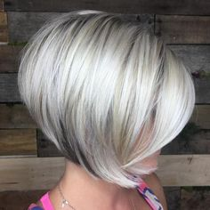Platinum Bob With Black Underlights