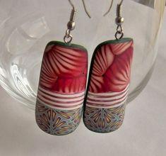 Polymer clay earrings by Feux de paille.