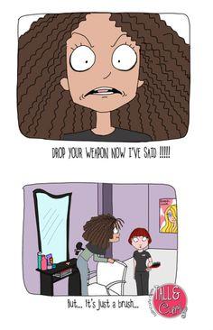 natural hair cartoon pictures | Natural Hair Comic
