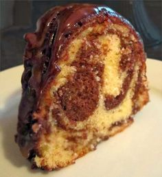 A slice of heaven ... Marble Pound Cake!