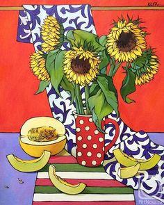 Still Life Flowers, Portrait Sketches, Still Life Art, Summer Art, Deco, Art Images, Art Inspo, Flower Art, Art For Kids