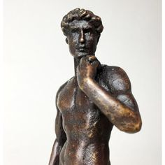 The David by MichelAngelo Bronze Sculpture ($74) ❤ liked on Polyvore featuring home, home decor, bronze home decor and bronze sculpture