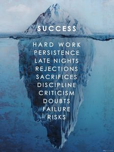Success Hard Work Persistence Quote Success Is An Iceberg Framed Wall Art Canvas Hard Work Quotes, Study Motivation Quotes, Motivation Success, Work Hard, Athlete Motivation, Study Hard, Daily Motivation, Fitness Motivation, Famous Quotes About Success