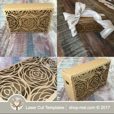 Product Laser cut wedding gift box template @ shop-msl.com Laser Cut Box, Laser Cutting, Wedding Gift Boxes, Wedding Gifts, Paper Box Template, Wedding Designs, Decorative Boxes, Gift Wrapping, Templates