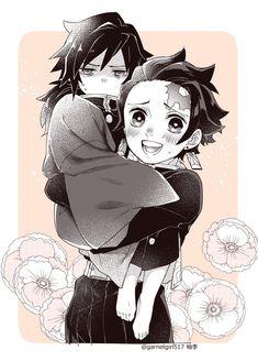 ❥- Imagenes de esta pareja formada por Tanjirou Kamado (竈門 炭治郎) y Giy… # De Todo # amreading # books # wattpad Comic Anime, Manga Anime, All Anime, Anime Art, Familia Anime, Sasuke X Naruto, Anime Group, Cute Anime Character, Demon Hunter