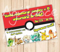 Convite Virtual Pokémon