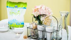 DIY Guest Caddies with Lavender Bath Soak! DIY b y @sophieuliano on Home and Family!