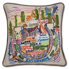 BIG BEND HAND-EMBROIDERED PILLOW