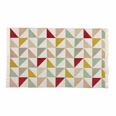 Teppich mit Dreieckmuster aus Baumwolle 120 x 180 cm LEA