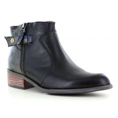 5d0402c4228f Mustang 1287-502-999 Womens Faux Leather Side Zip Heeled Boots ...