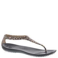 76be9808e486 Crocs Sexi Wild Flip Womens Size 9 Black Thongs Sandals Shoes 1226 for sale  online