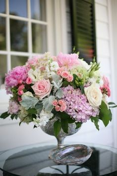 Lovely rose hydrangea creation.