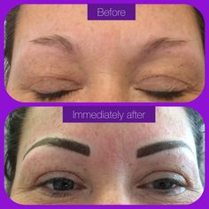 New brows down today #semipermanentmakeup #hairstroke #eyebrows
