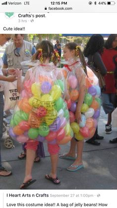 Bag of Jellybeans Halloween Costume