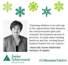 Reason #11: #Children are our most precious asset. #JA teaches them about the #opportunities available through the free enterprise system.  #25ReasonToGive #education #FundJA