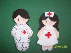 Felt doctor and nurse