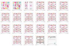 Kawaii Birthday printables--- http://www.freebirthdaypartyprintables.com/Kawaii-Birthday-Party-Food-Card-Printables.php