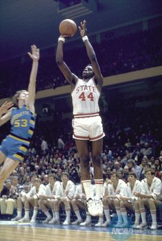 """Skywalker"", David Thompson one of the greatest college basketball players of all time. 3X All American, 2x National Player of the Year, MOP in the 1974 Final Four while leading NC State to the National Title.  His #44 is the only number retired by the University of North Carolina State."