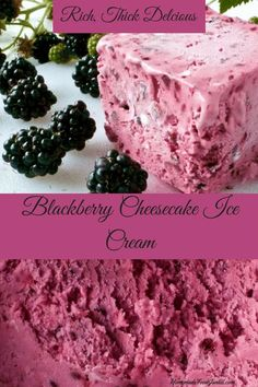 Blackberry Cheesecake Ice Cream is SO easy to make in your ice cream maker. Your family will love this rich dessert. Blackberry Cheesecake Ice Cream is SO easy to make in your ice cream maker. Your family will love this rich dessert. Kinds Of Desserts, Frozen Desserts, Frozen Treats, Fun Desserts, Delicious Desserts, Delicious Dishes, Blackberry Dessert, Blackberry Cheesecake, Blackberry Recipes Easy