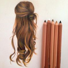 haar zeichnen Hair Study By sami.ea _ artshelp So Beautiful Colour Pencil Shading, Color Pencil Sketch, Colored Pencil Artwork, Colored Pencils, Colorful Drawings, Cool Drawings, Colored Pencil Tutorial, Hair Sketch, Polychromos