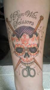 Skull craft tattoo