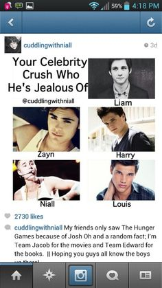 bahahaha so i say to myself and everyone else that Josh Hutcherson and Taylor Lautner are my exes. ahahaha now Louis is my current! ahahahahaha xD  ~Erica Tomlinson <3