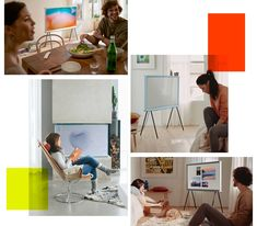 "43"" The Serif 4K Smart TV Cloud White   Samsung Sverige Serif, Smart Tv, Furniture Decor, Office Desk, Sims, Samsung, Clouds, Bedrooms, Decoration"