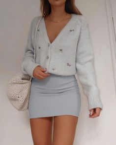 Baby blues look 1 2 or By: Cute Casual Outfits, Girly Outfits, Mode Outfits, Retro Outfits, Stylish Outfits, Preppy Outfits, Mode Ulzzang, Teen Fashion Outfits, Looks Style