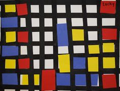 I got the idea for this project from Sheila Wilk ins, Sunset Hill Elementary School. I saw the Mondrian Boogie Woogie project in their Arts...