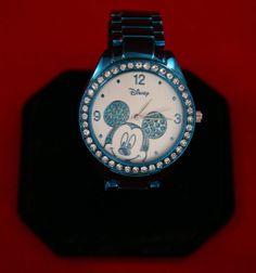 Disney Mickey Mouse Watch, Blue Crystal Bracelet, Quartz - Nice!!!