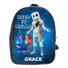 FORTNITE MARSHMELLO EVENT LEATHER XL BACKPACK Marshmello Alone, Dj Marshmello, Gifts For Kids, Great Gifts, Battle Royale, Cool Backpacks, Feeling Special, Pre School, One Pic