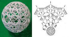 Crochet Ball, Crochet Motif, Knit Crochet, Christmas Baubles, Christmas Time, Wedding Decorations, Christmas Decorations, Crochet Decoration, Lace Decor