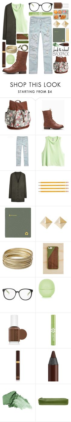 """""""Earthy Student"""" by meaganmuffins ❤ liked on Polyvore featuring Aéropostale, H&M, AT-A-GLANCE, Steve Madden, Native Union, Topshop, Essie, Per-fékt Beauty, Tom Ford and L'Oréal Paris"""