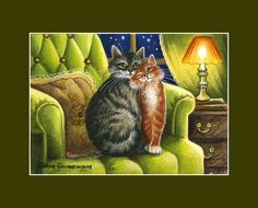 Cat ACEO Print Our Home by Irina Garmashova