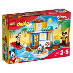 LEGO DUPLO Disney Juinior Mickey & Friends Beach House, Preschool, Pre-Kindergarten Large Building Block Toys for Toddlers - Most Wanted Christmas Toys Mickey Mouse And Friends, Minnie Mouse, Shop Lego, Buy Lego, Legos, Toddler Toys, Kids Toys, Large Building Blocks, Donald Duck