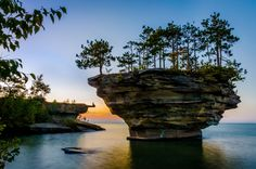 Michigan: Turnip Rock (off the coast of Port Austin, MI) | The most beautiful places in each state