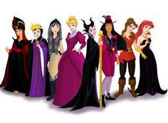 Disney princesses as their villains