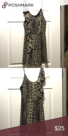 Topshop leopard print dress size 6 Gently worn Topshop leopard print dress. Size 6. Topshop Dresses Mini