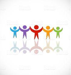 チームワーク人、後続のアイコン ベクトル ロイヤリティフリーチームワーク人後続のアイコン ベクトル - 幸福のベクターアート素材や画像を多数ご用意