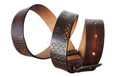 Knife carved Belt #leather #handmade #romania