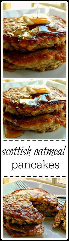 Easy overnight pancakes made from oatmeal.
