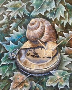 Canvas Board, Animal Paintings, Clay Art, Spirit Animal, Etsy Shop, Aster, Snails, Art Prints, Gallery