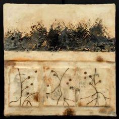 Michelle Belto, encaustic mixed media on artist-made cast paper, x x Encaustic Painting, Art Graphique, Art Techniques, Abstract Landscape, Painting Inspiration, Art Lessons, Paper Art, Artwork, Roots