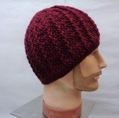 #menshat #menstoque #burgundybeaniehat #crochethat #giftforhim #skulldress #headwarmer #crochettoque #redwinehat