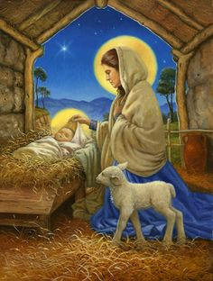 Silent night, holy night, Son of God, love's pure light --- Ruth Sanderson (1951, American)